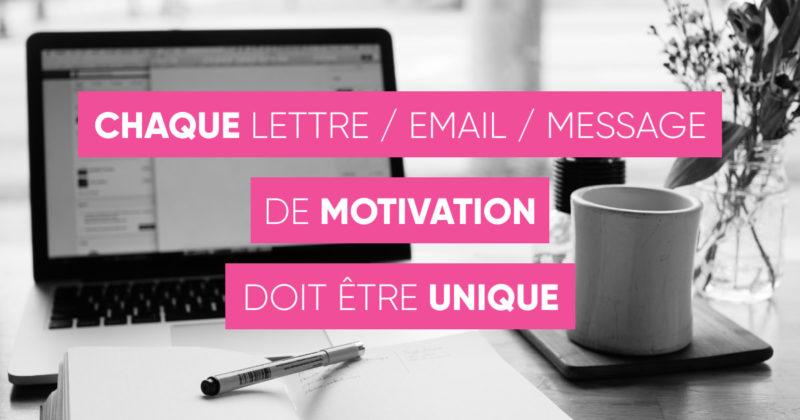 Lettre de motivation unique