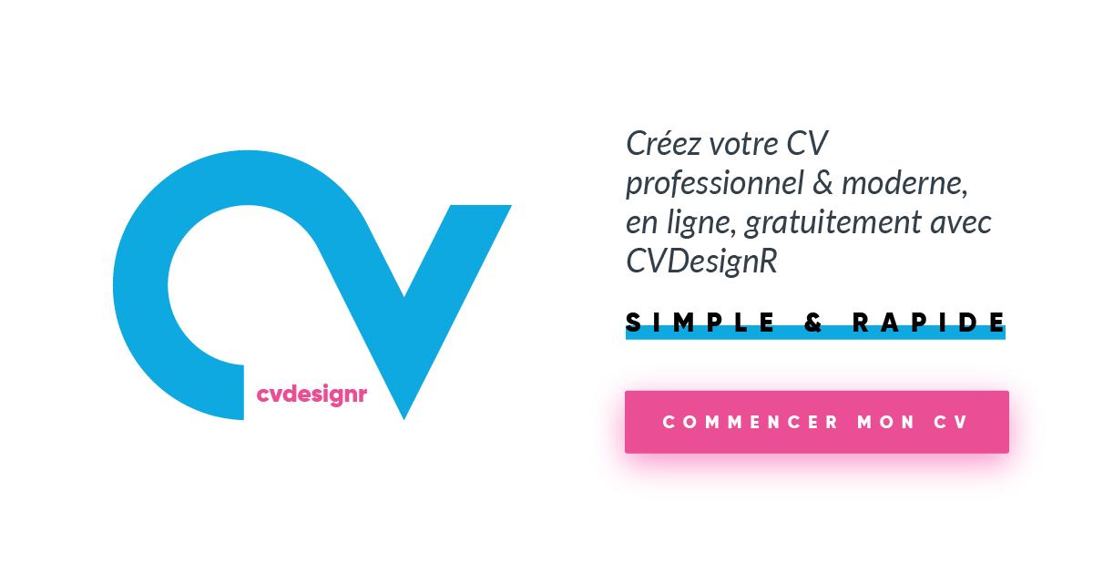 cr u00e9er mon cv design  outil cr u00e9ation cv pdf gratuit